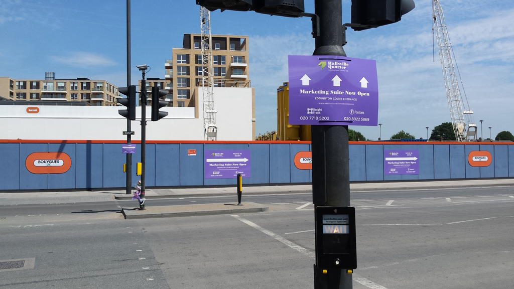 Canning Town Building Hoardings Project