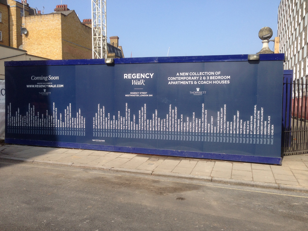 Regency Walk Building Hoardings Project