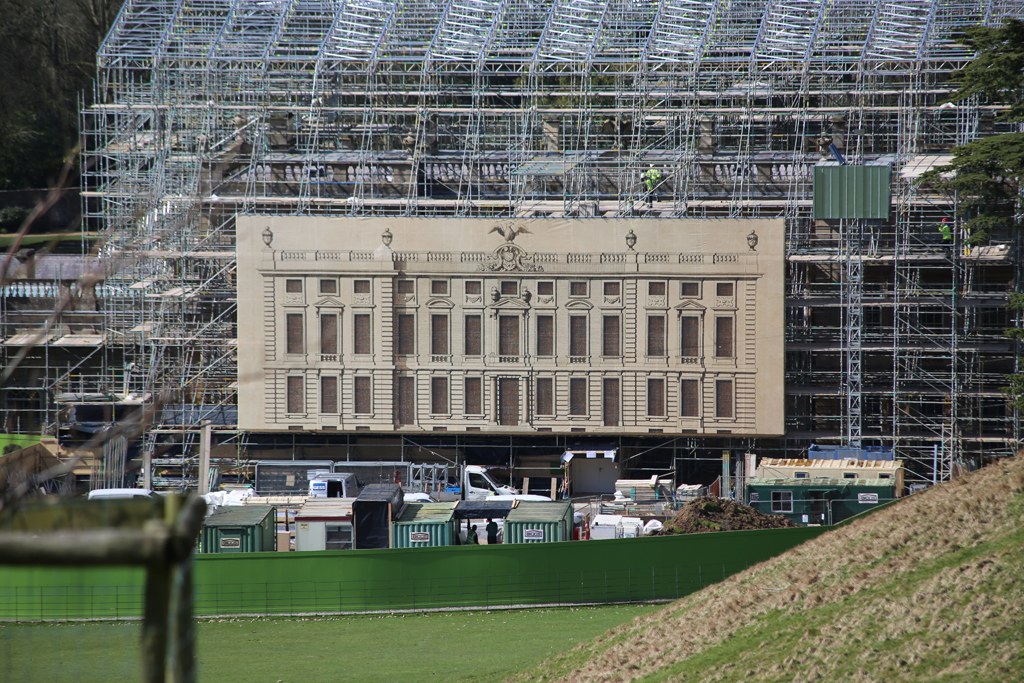 Dyrham Park Scaffold Wrap
